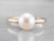 Pearl White Gold Solitaire Ring