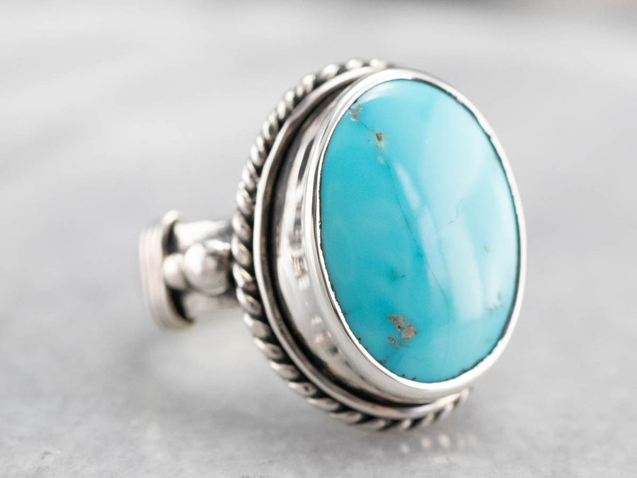 Bohemian Turquoise Sterling Silver Ring