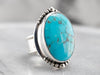 Bohemian Turquoise Sterling Silver Statement Ring