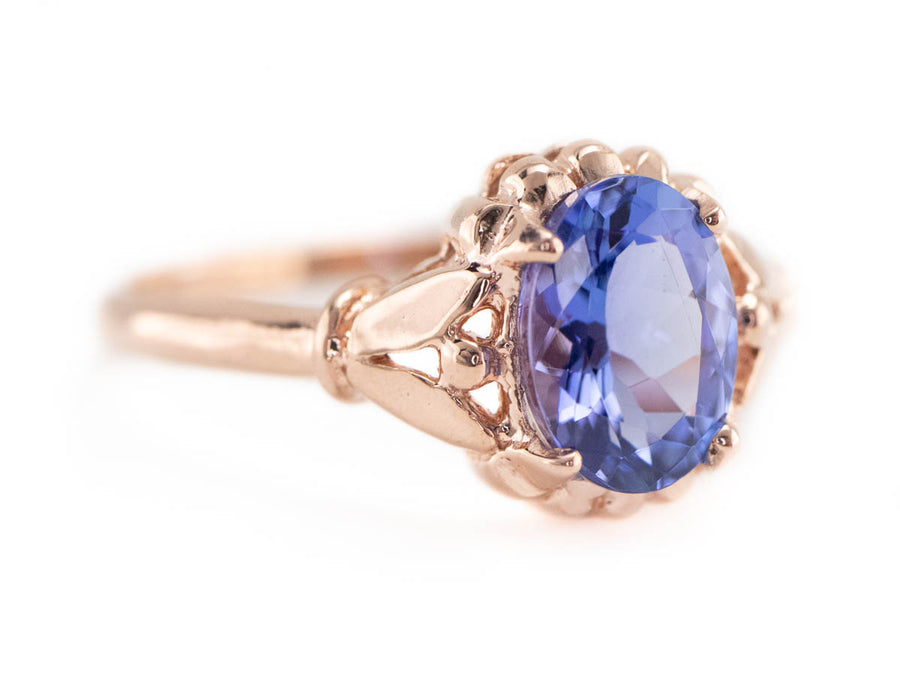 Sapphire Rose Gold Solitaire Abigail Ring by Elizabeth Henry