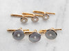 Vintage Mother of Pearl 14K Gold Shirt Studs