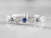 Bezel Set Sapphire and Diamond Band