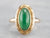 Greek Key Retro Jade Solitaire Ring