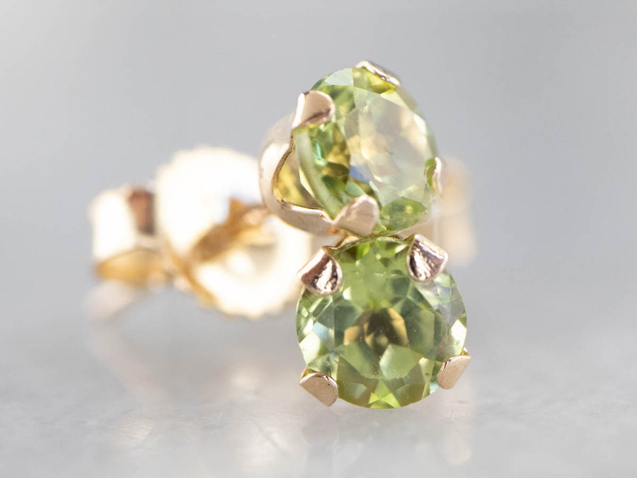 Small Peridot Stud Earrings
