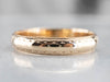 Vintage Men's Patterned Gold Wedding Band