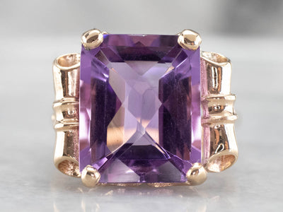 Funky Vintage Amethyst Cocktail Ring