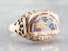 Antique Filigree Rainbow Girls Ring