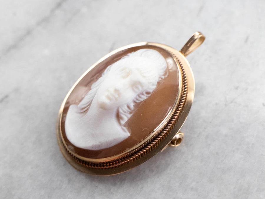 Mid Century Cameo Brooch or Pendant