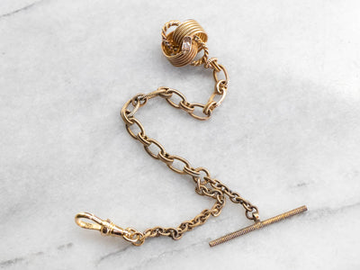 Antique Diamond and Seed Pearl Watch Fob