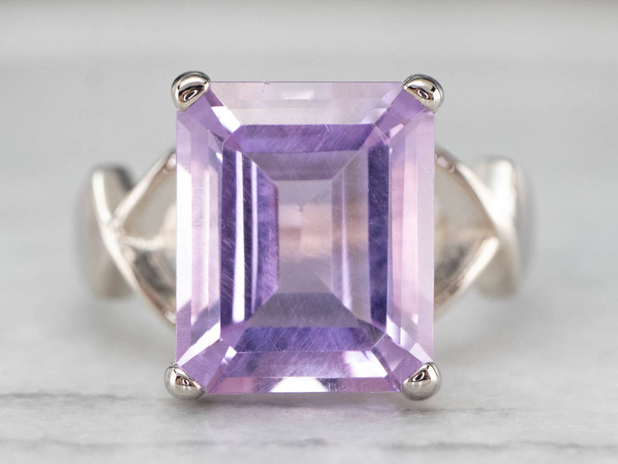 Modernist Amethyst Cocktail Ring