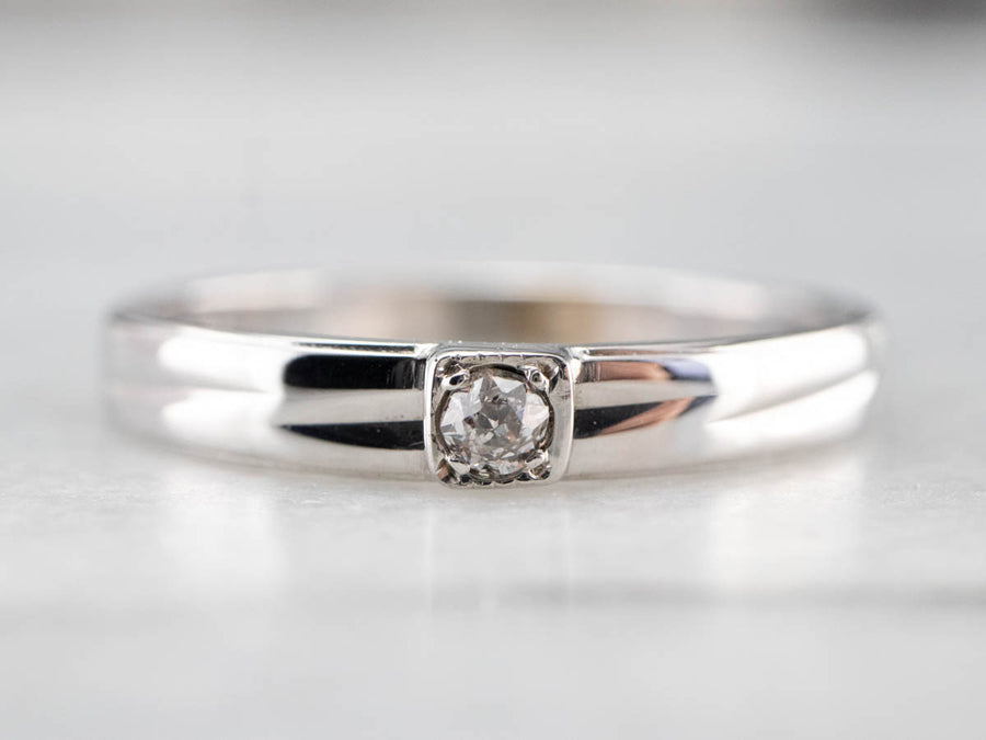 Vintage Solitaire Diamond Band