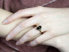 Antique Ostby and Barton Onyx and Enamel Ring