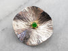 Green Garnet Mixed Metal Lily Pad Pin