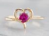 Sweetheart Gold Ruby Ring