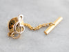 Gold G Clef Music Note Tie Tack