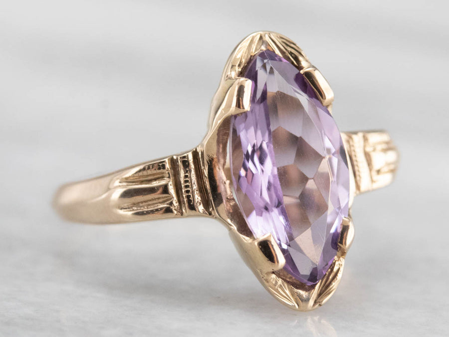 Antique Marquise Amethyst Ring
