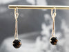Dark Smokey Quartz Drop Earrings,