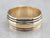 Striped Gold Wedding Band Ring