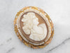 Antique Cam & Co Cameo and Seed Pearl Brooch