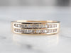 Gold Double Row Diamond Band