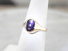 Antique Dark Purple Star Sapphire Ring