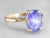 Periwinkle Hued Star Sapphire Ring