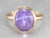 Violet Star Sapphire Solitaire Ring