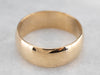 Vintage 18K Gold Men's Wedding Band