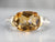 Vintage David Yurman Citrine Mixed Metal Ring