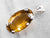 Honey Quartz Sterling Silver Statement Pendant