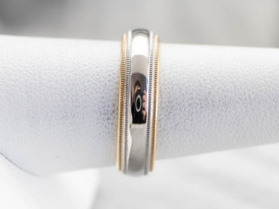Platinum and 18K Gold Wedding Band