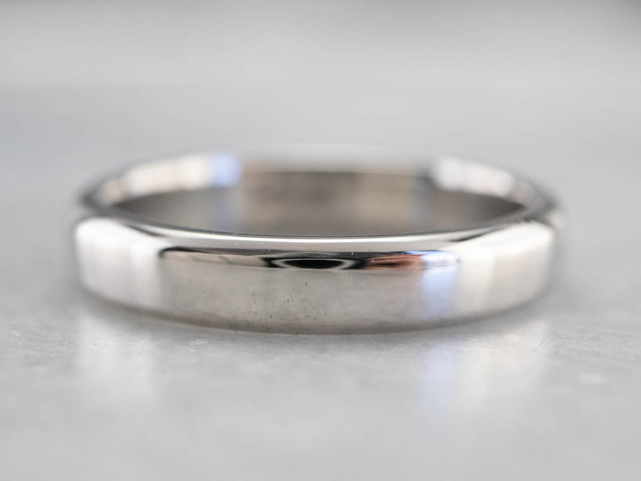 Unisex Sleek Platinum Band