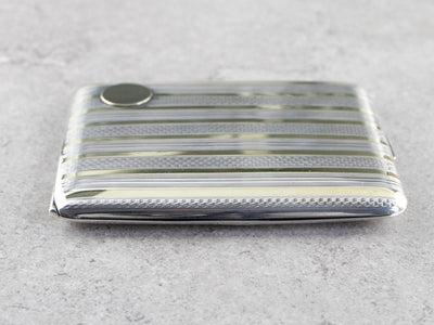 Vintage Elgin Striped Mixed Metal Cigarette Case