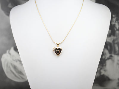Plain Yellow Gold Heart Shaped Locket