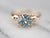 Retro Era Blue Zircon Solitaire Ring