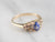 Gold Sapphire and Diamond Ring