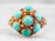 Vintage Turquoise and Gold Statement Ring
