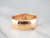 Unisex Antique Rose Gold Band