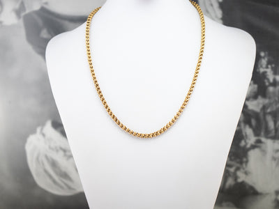 Ornate Antique Gold Chain Necklace