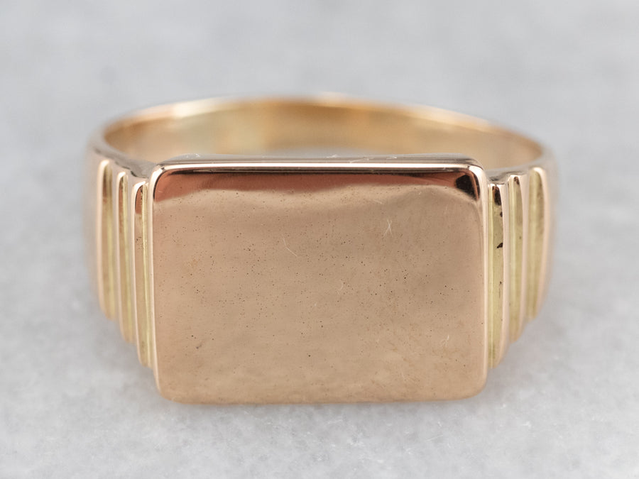 Unisex Gold Signet Ring