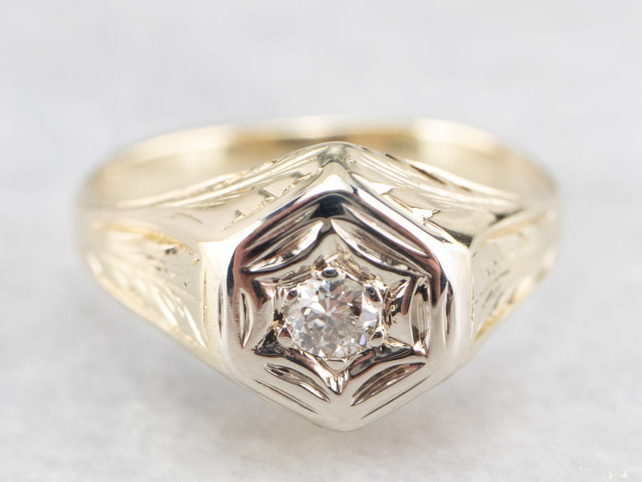 Vintage European Cut Diamond Ring