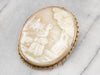 Antique Strolling Madame Cameo Brooch