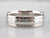 Grooved Platinum Wedding Band