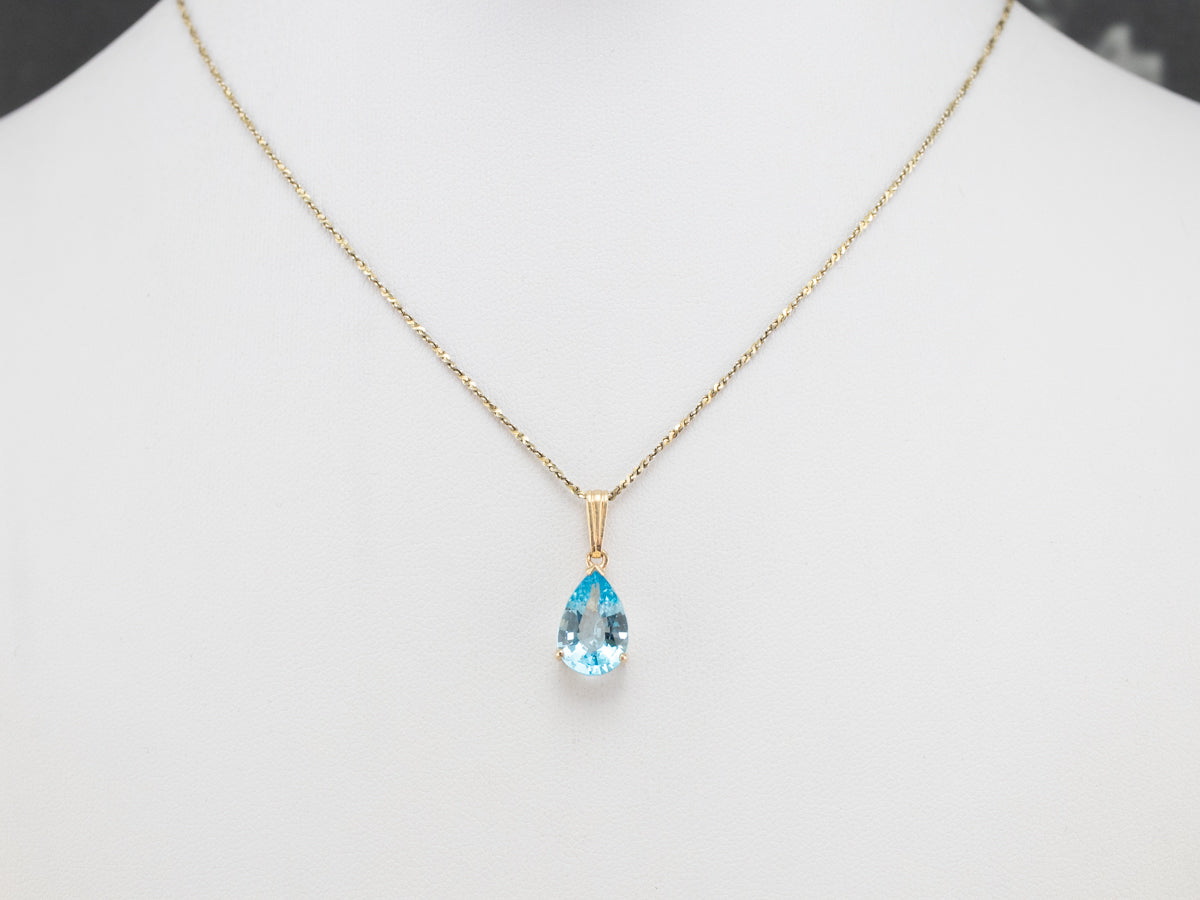 Details about  /Sky Blue Topaz Charm 5mm Square Set In 14K Yellow Gold