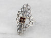 Mixed Metal Garnet Filigree Ring
