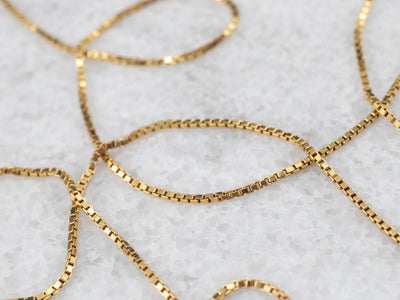 Yellow 14 Karat Gold Box Chain