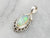 Marquise Opal Sterling Silver Pendant