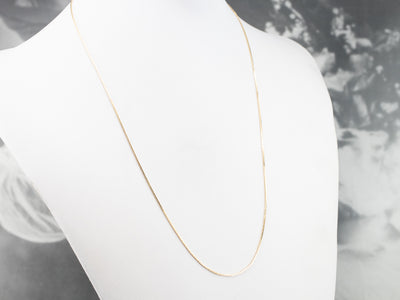 Gold Boston Link Chain Necklace