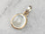 Bezel Set Moonstone Gold Fill Pendant