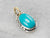Oval Turquoise Mixed Metal Layering Pendant
